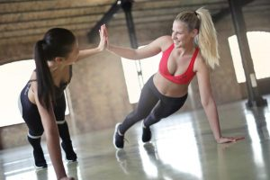 Personal trainer courses in Dubai - two girls working out