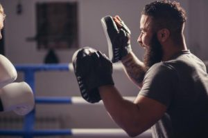men training thai boxing dubai