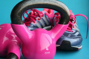 kettle bell as part of powerlifting exercises