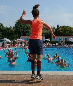 A water aerobics Dubai class