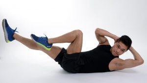 A man doing an abdominal exercise.