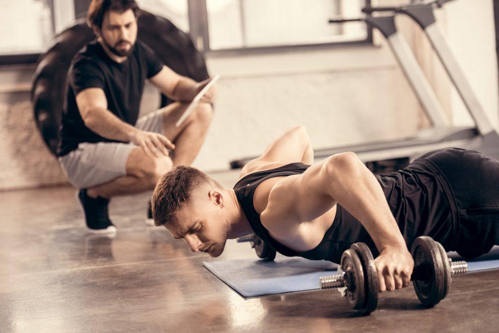 men in a gym