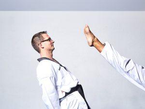 kick in taekwondo