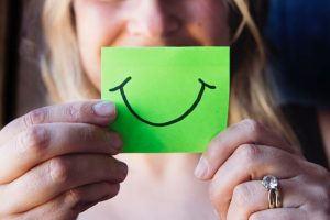 Smile on a post-it