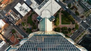 Birds eye view from a tall building