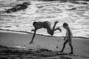 kids doing capoeira training