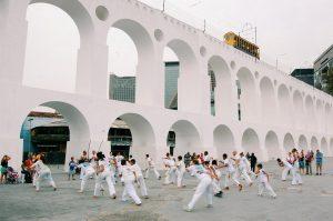 people doing capoeira training