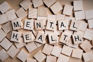 Wooden letter mental health