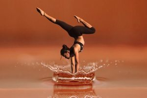 handstand water