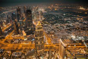 night time photo of Dubai
