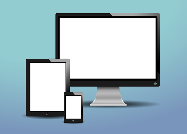 three white screens