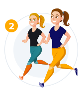 How it works image 2 - Two girls jogging.