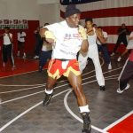 Billy Blanks during a tae bo 30 minutes workout