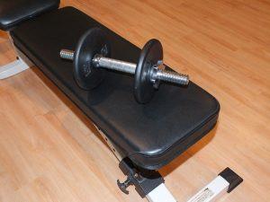 a gym bench