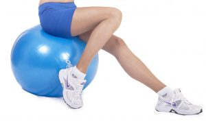 glute exercises - fitness ball