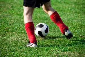 Include dribbling in football training drills for adults