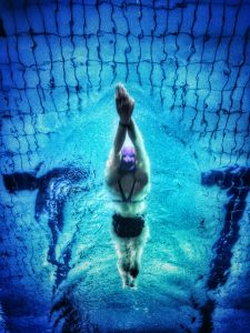 person in a swimming pool