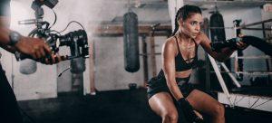 a girl bodybuilding