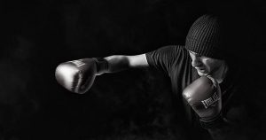 a man boxing
