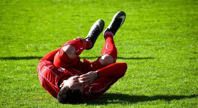 an injured footballer