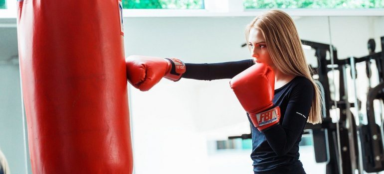 Kickboxing - one of the best workout routines for women over 40.