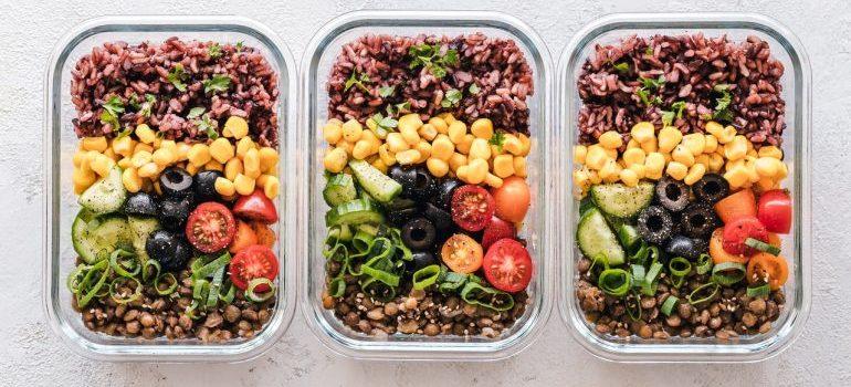 Three healthy meals.