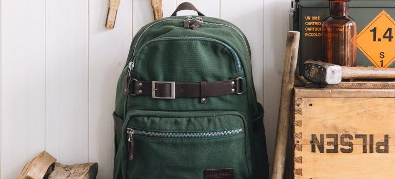 backpack and tools