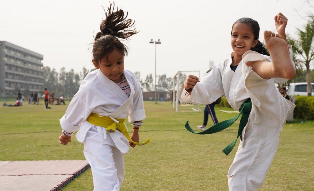 karate is one of outdoor activities in Dubai for kids