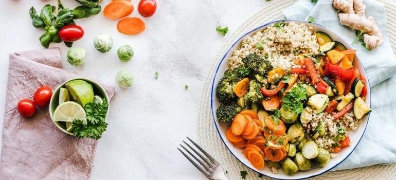 Diverse healthy food