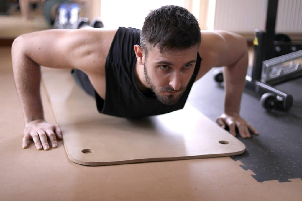 a person working out after joining a personal trainer platform