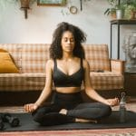 A girl who does yoga