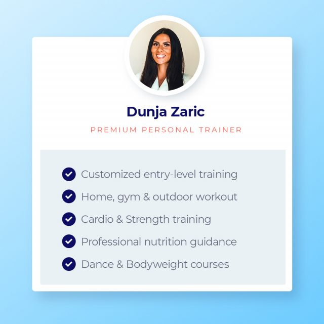 Dunja is a premium personal trainer committed to helping others improve their lifestyle and reach long-term fitness goals. Check out Dunja's profile by following the link in bio.⁣ ⁣ #personaltrainers #premiumtrainers #dubaipt #dubaipersonaltrainers