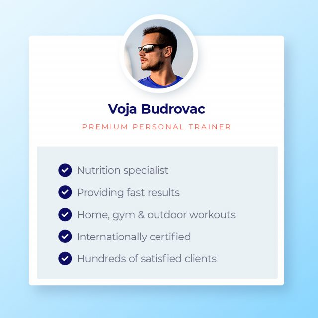 Voja is a top-class certified Level 3 personal trainer and nutrition expert with a background in Football and Boxing. Hit the link in bio to see Voja's profile.  #premiumtrainers #personaltrainers #dubaipt #dubaipersonaltrainers