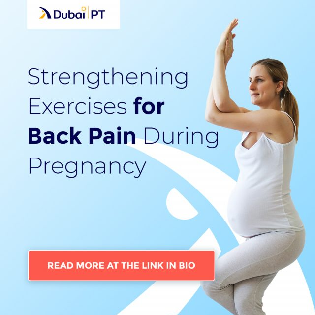 Back pain is one of the biggest issues pregnant women face. Luckily, many strengthening exercises can help relieve it and generally make you feel better in your body. If you'd like to learn more, follow the link in bio.⁣ ⁣ #backpain #pregnancyexercises #backpaintips #dubaipt
