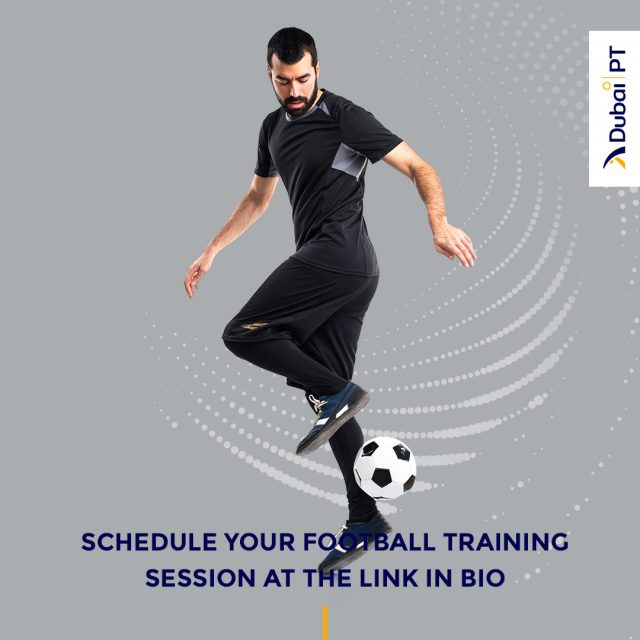 Lower your body fat and improve muscle tone by playing one of your favorite sports. Follow the link in bio and schedule your first Football training session with one of our personal trainers today!⁣ ⁣ #football #footballtrainingsessions #dubaipt #dubaipersonaltrainers