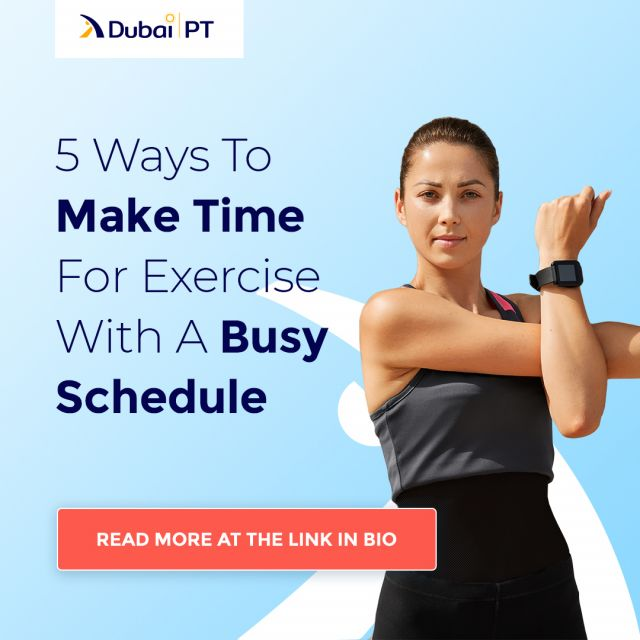 We all know the feeling of wanting to work on your body but simply not finding the time. Having a busy schedule is one of the biggest reasons why many of us stop exercising and let go, so how to change that?⁣ In one of our recent articles, we created a list of 5 ways to make time for exercise with a busy schedule and you can find it at the link in bio.⁣ ⁣ #fitness #bodyexcersise #dubaipt 3dubaipersonaltrainers