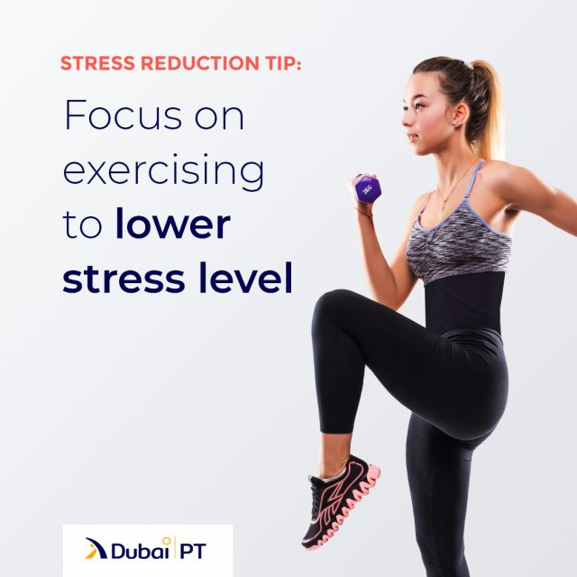Exercise will lower the levels of cortisol and adrenaline in your body, and these are the two hormones related to stress. That's why you should make sure you include some light exercise routine every day.⁣ ⁣ #exercise #exercisetips #stressrelease #lightexercise #dubaipt #dubaipersonaltrainers