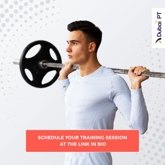 Other than bulking up and building muscle mass, Weightlifting can seriously benefit your posture and help you gain bone density. Our personal trainers are very experienced in training and guiding you throughout Weightlifting training sessions, so make sure you check the link in our bio and start training today.⁣ ⁣ #weightlifting #weightliftingtrainingsessions #dubaipt #dubaipersonaltrainers