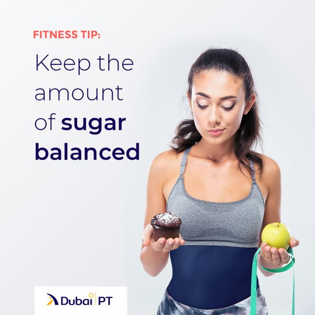 It is nearly impossible to avoid sugar altogether. So, consciously limiting the amounts you consume is the optimal solution to get the best out of the two – sugar and fitness.⁣ ⁣ #diettips #fitnesstips #dubaipt #dubaipersonaltrainer