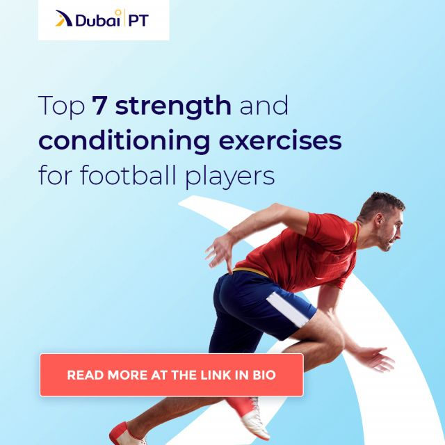 Football players have strict and grueling exercise routines. If you have ever wondered just how do they manage to be in such good shape, take a look at the top seven strength and conditioning exercises for football players which allow them to play world-class games by following the link in bio.