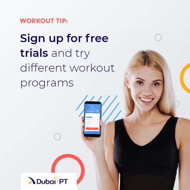 You may have noticed that a lot of workout apps, websites and programs offer free trials for first-time visitors. Find a workout program you'd like to try out and sign up for a free trial. At the end of the trial, you can decide whether you want to pay for more content or cancel your subscription. Follow the link in bio!