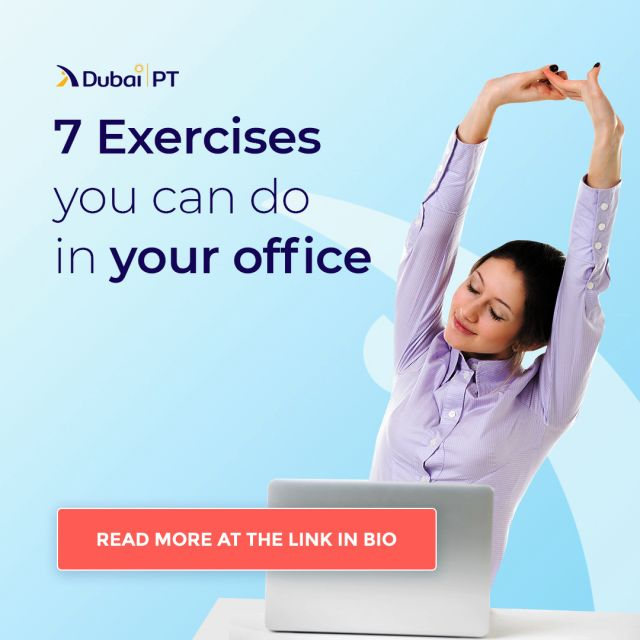 Are you stuck in the office working long hours and don't have time to go to the gym? Don't worry, there are plenty of exercises you can do in your office, and most of them won't take a lot of your time. We made a list of exercises you can try out while having a short break from work!     #officeexercise #healthylifestyle #dubaipt #dubaipersonaltrainers #personaltrainerdubai