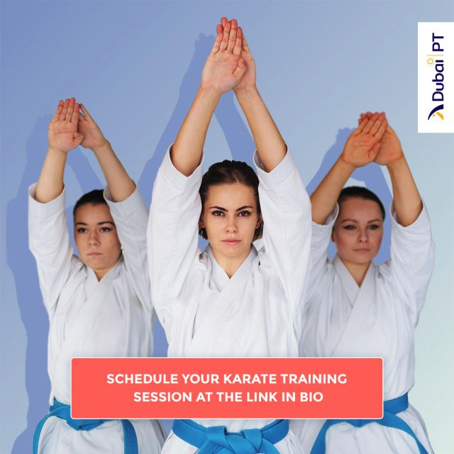 Start your journey to self-mastery with karate. Practice the martial art of mastering yourself, find the full balance of both mind and body, get in fighting shape, and have fun.  Schedule your first training session today by following the link in our bio.    #karatetraining #karatecoach #karatedubai #training #uaekarate #dubaipt #dubaipersonaltrainers #personaltrainerdubai